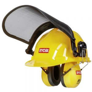 Ryobi Helmet with Visor and Ear Defenders