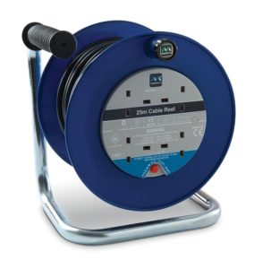 Masterplug Open Cable Reel with Thermal Cut-Out and Reset Button, 25 m