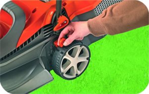 Flymo Chevron 34vc Electric Rotary Lawn Mower Size