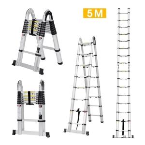 Finether 5M Aluminum Telescopic Ladder