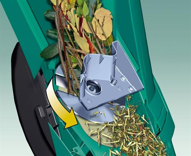 how garden shredder works