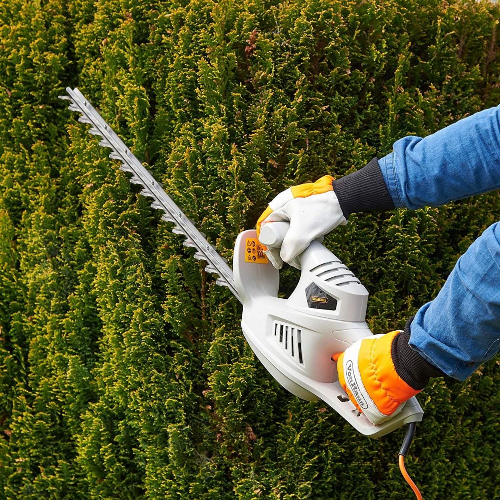 VonHaus 450w Electric Hedge Trimmer Vertical Trimming