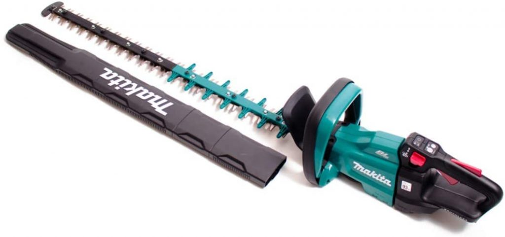 Makita DUH751Z Cordless hedge trimmer with blade cover