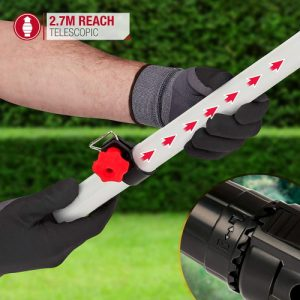 Netta 2 in 1 long reach hedge trimmer and chainsaw telescopic handle