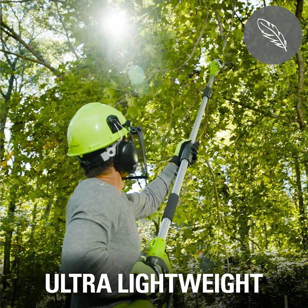 Greenworks G40PSHK2 Is Ultra Lightweight