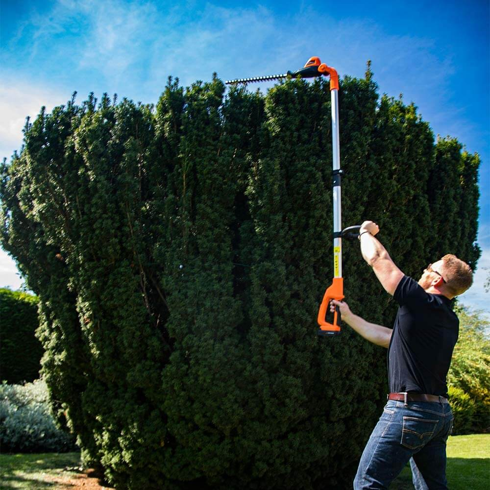 Cutting head of hedges with Yard Force 20V